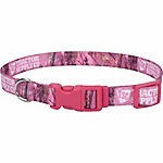 Retriever 1 in. x 12 in. to 18 in. Adjustable Fashion Print Dog Collar, Pink