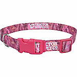 Retriever 1 in. x 18 in. to 26 in. Adjustable Fashion Print Dog Collar, Pink