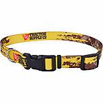 Retriever 1 in. x 12 in. to 18 in. Adjustable Fashion Print Dog Collar, Yellow