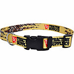 Retriever 1 in. x 18 in. to 26 in. Adjustable Fashion Print Dog Collar, Yellow