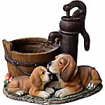 Red Shed Beagle with Pup Pump Planter