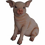 Red Shed Large Fiberglass Animal Planter, Pig