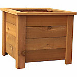 Square Western Red Cedar Planter, 20 in.