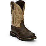 Justin Men's Stampede Sawdust Leather Upper with Waxy Brown Vamp Boot, 11 in.