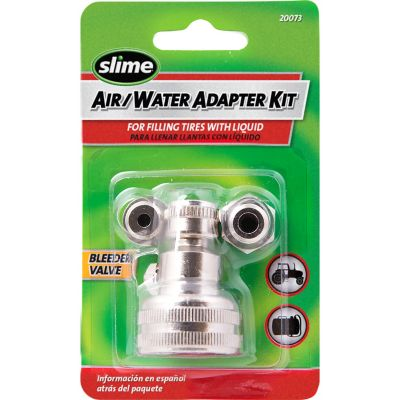 slime air water adapter kit with bleeder valve for life out here. Black Bedroom Furniture Sets. Home Design Ideas