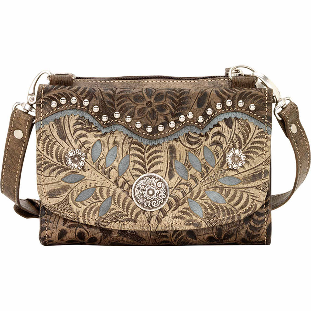 320dc454e6 American West Woodland Bloom Small Crossbody Bag with Wallet on ...