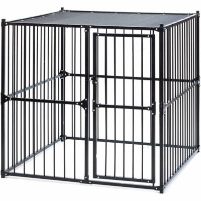 Fencemaster kennel system laurelview dog kennel at tractor for Dog kennel systems