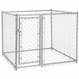 Lucky Dog Galvanized Chain Link Dog Kennel Kit 4 Ft H X