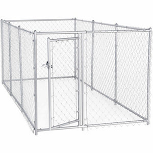 Lucky dog 2 in 1 galvanized chain link dog kennel kit 4 ft h x 5 ft
