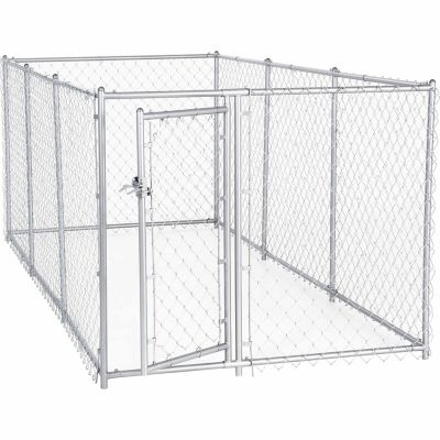 Lucky Dog 2 In 1 Galvanized Chain Link Dog Kennel Kit 4