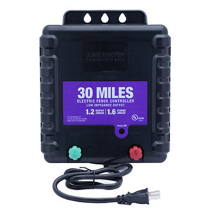 American Farmworks 30 Mile Ac Powered Charger At Tractor