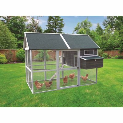 Innovation pet big green walk in hen house up to 18 for Big chicken tractor