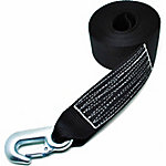 Traveller Tow Strap with Forged Snap Hook, 1,100 lb. Safe Work Load, Black, 2 in. x 20 ft.
