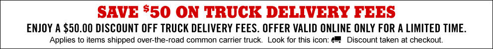 Save $50 on Truck Delivery Charges for a limited time - Tractor Supply Co.