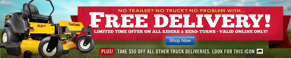 Free Shipping for Riding and Zero Turn Mowers for a limited time - Tractor Supply Co.