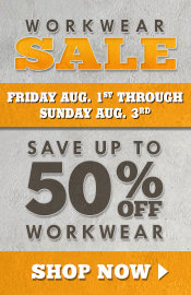 Save On Workwear August 1 - 3, 2014 - Tractor Supply Co.