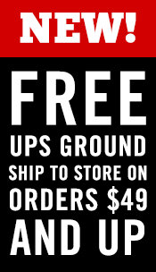 Free UPS Ship To Store on all Purchases of $49 and Up!