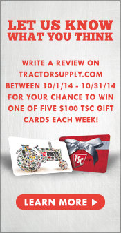 Write a Review and enter for your chance to win a TSC Gift Card