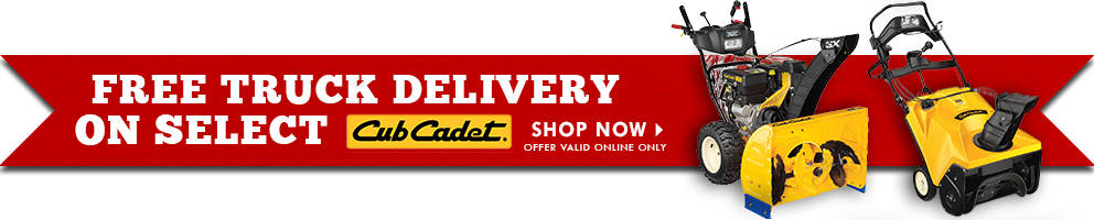 Free Truck Delivery on Select Cub Cadet - Tractor Supply Co.