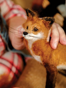 her finished fox up close