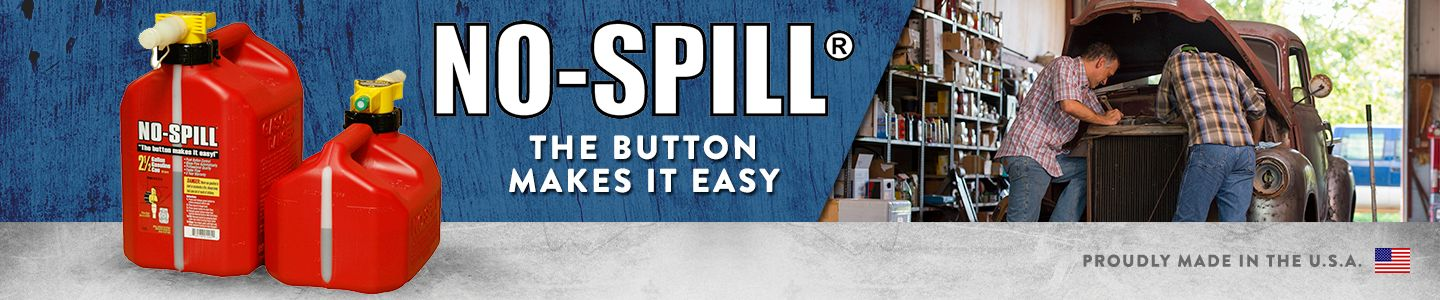 No-Spill Gas Can available at Tractor Supply Co.