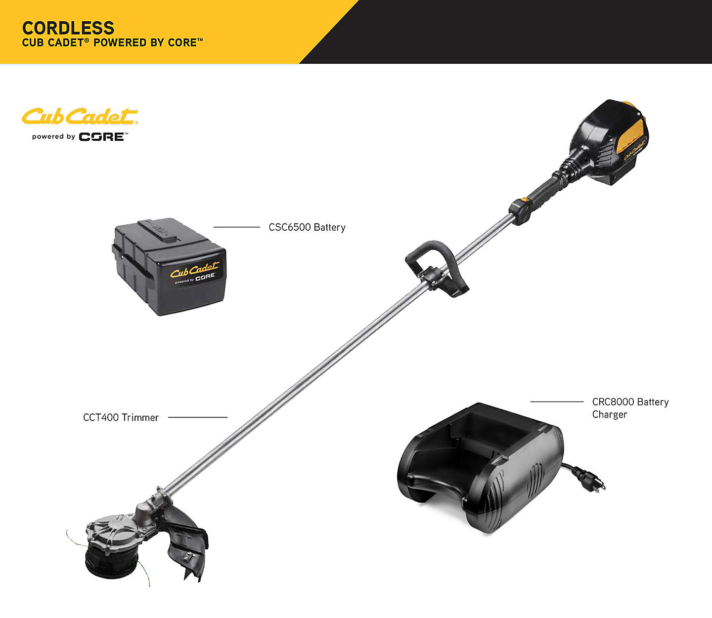 Cub Cadet powered by CORE trimmer kit - Tractor Supply Co.