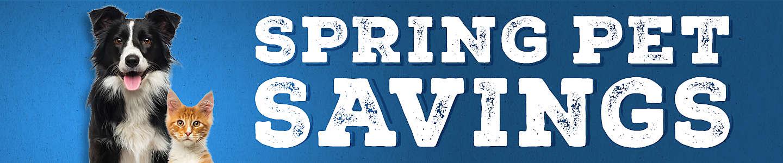 Spring Pet Savings