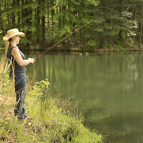 Woman Fishing - Tractor Supply Co.