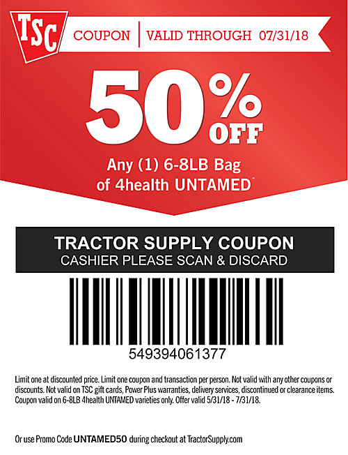 untamed coupon tractor supply co