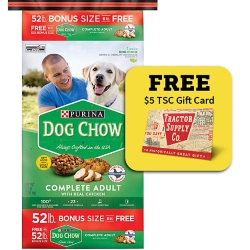 Shop 52 lb. Bonus Bag Purina Dog Chow at Tractor Supply Co.