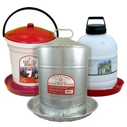 Shop 5 gal. Easy-Fill Drinker, Plastic or Galvanized Poultry Fountain at Tractor Supply Co.