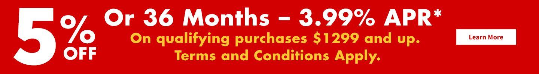 5% or 36 Month Plan