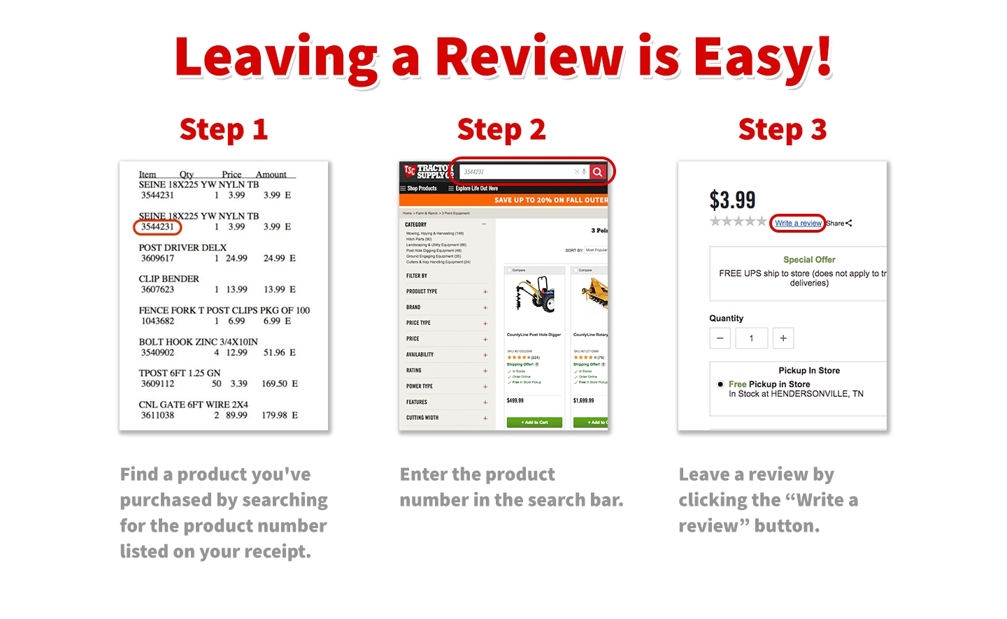 Ratings & Reviews | Tractor Supply Co