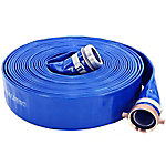 Abbott Rubber Lay-Flat PVC Discharge Hose Assembly, 1-1/2 in. ID x 25 ft.