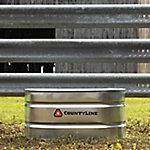 Oval Galvanized Stock Tank, 2 ft. W x 4 ft. L x 2 ft. H, 100 gal. Capacity
