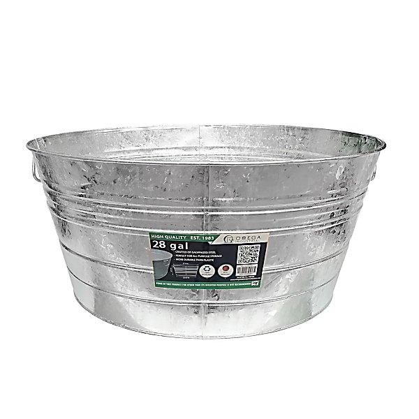 King Metalworks 28 Gal Galvanized Metal Tub