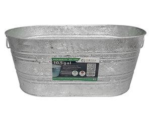 King Metalworks 10 5 Gal Galvanized Metal Tub At Tractor