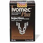 Ivomec® Plus (Ivermectin/Clorsulon) Injection for Cattle, 50 mL