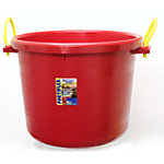 Fortiflex Large Capacity Plastic Bucket, 17.5 gal. Capacity, Red