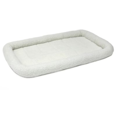 MIDWEST® HOMES FOR PETS QUIET TIME® BOLSTERED FLEECE CRATE BED–MEDIUM TO LARGE BREED