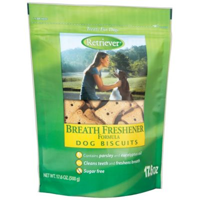RETRIEVER BREATH FRESHENER FORMULA DOG BISCUITS, 17-5/8 OZ. POUCH