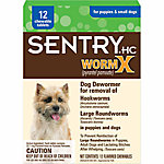SentryHC Worm X® Dog De-Wormer for Puppies & Small Dogs, Pack of 12