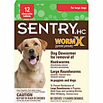 SentryHC Worm X® Dog De-Wormer for Large Dogs, Pack of 12
