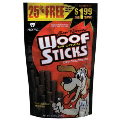 pro pac woof 39 em down sticks 7 2 oz at tractor supply co. Black Bedroom Furniture Sets. Home Design Ideas