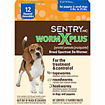 SentryHC Worm X Plus® Broad Spectrum De-Wormer for Puppies & Small Dogs, Pack of 12