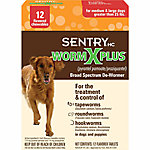 SentryHC Worm X Plus® Broad Spectrum De-Wormer for Medium & Large Dogs, Pack of 12