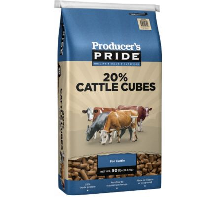 PRODUCER'S PRIDE® 20% ALL NATURAL CATTLE CUBE, 50 LB.