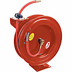 JobSmart® Auto-Retracting Air Hose Reel with 300 PSI Rubber Hose, 3/8 in. x 50 ft.