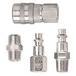 Campbell Hausfeld® Industrial-Style Coupler and Plug, 4 Piece Set for Air System, 1/4 in.