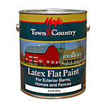 Majic® Town & Country Latex Flat Paint, 1 gal., White